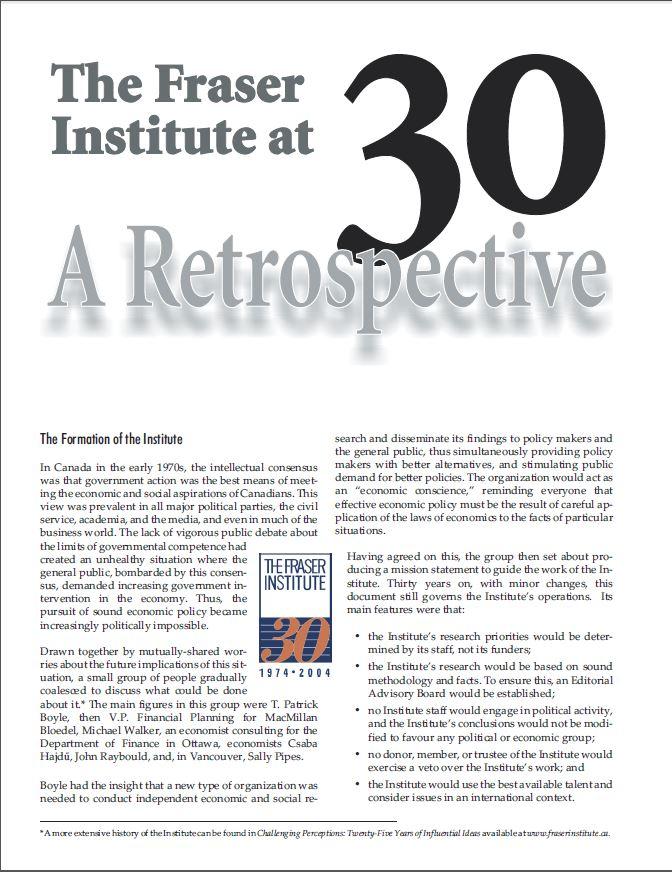 30th Anniversary Retrospective