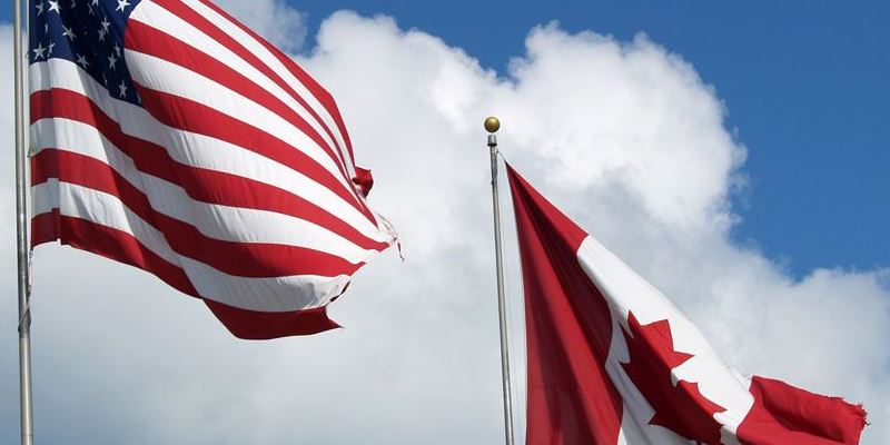 Canada - USA flags