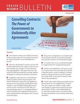 Cancelling Contracts: The Power of Governments to Unilaterally Alter Agreements