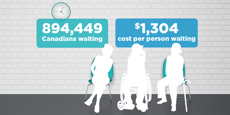 Private Cost of Public Queues for Medically Necessary Care, 2016