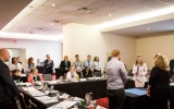 Journalists take part in interactive games and activities providing an introduction to economic concepts.