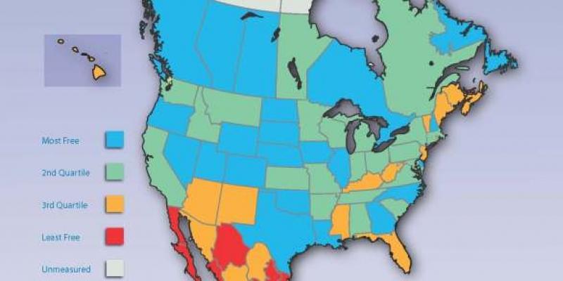 Economic Freedom of North America 2014