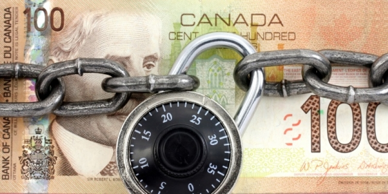 locked canadian money