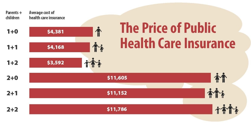 The Price of Public Health Care Insurance